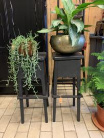 Plantentafel | kruk zwart - 78 cm