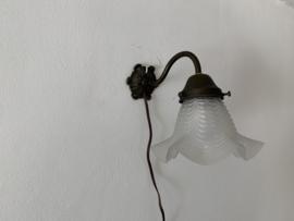Wandlampje gesatineerd - brocante