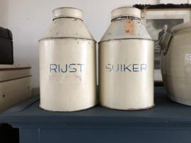 Gruttersblik rijst of suiker