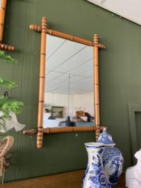 Spiegel bamboe - retro - 80 cm