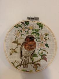 Borduurwerk Vogel - Ø 16 cm