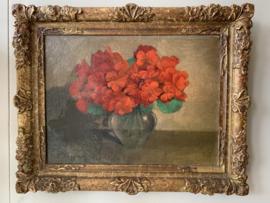 Schilderij rode bloemen