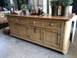 Blank houten dressoir - 230 cm