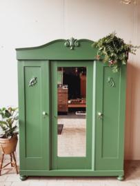 Vintage 3-deurs kledingkast - demontabel