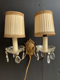 Dubbel wandlampje koper