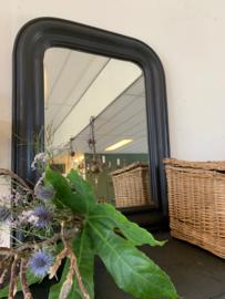 Spiegel met zwarte lijst 58 cm hoog