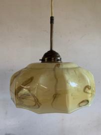 Hanglamp gedecoreerde glazen kap