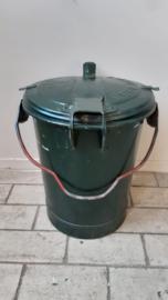 Zinken vuilnisemmer - groen