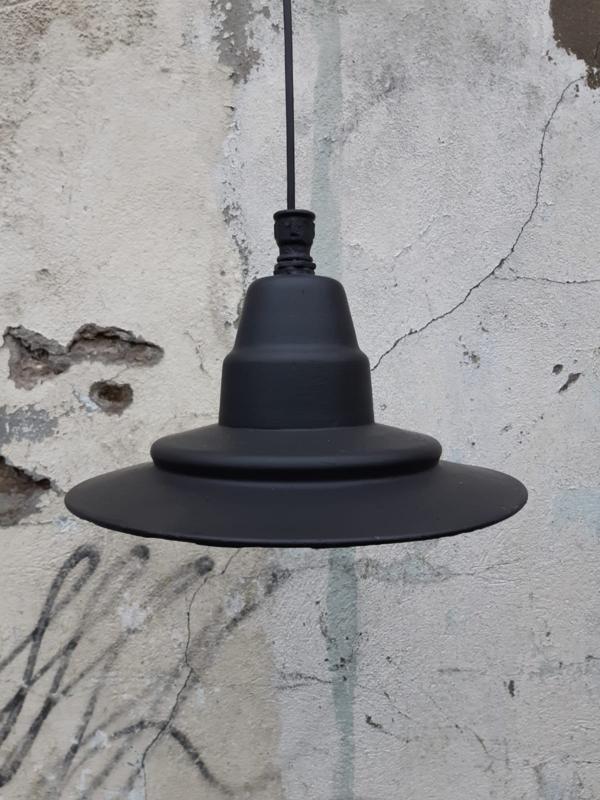 Industriële emaille hanglamp