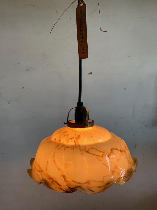 Hanglamp met glazen kap