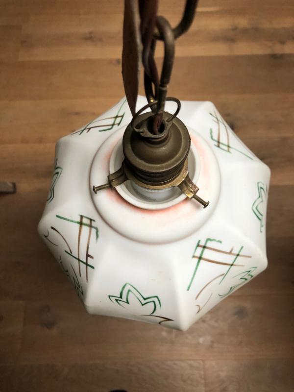 Hanglamp met gedecoreerd kapje