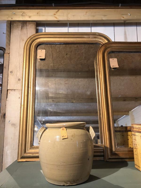 Oude Spiegel Zonder Lijst.Oude Spiegel Met Vergulde Lijst 94 Cm Hoog Accessoires
