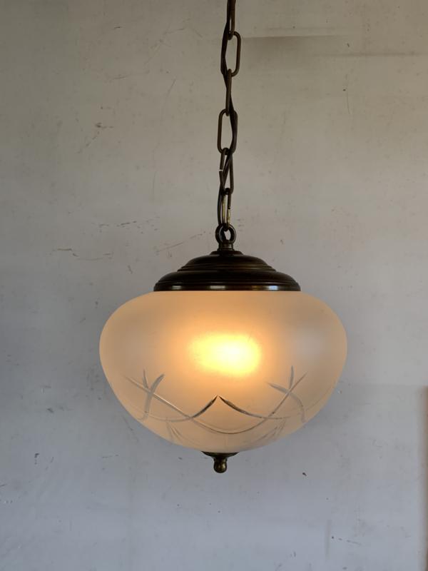 Hanglamp bol gesatineerd glas