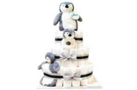 Pampertaart - luiertaart Pinguïn XL