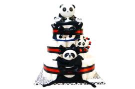 Pampertaart - luiertaart panda XL
