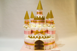 Pampertaart - luiertaart kasteel meisje