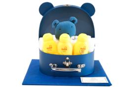 Koffertje klein diertje blauw