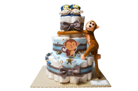 Pampertaart - luiertaart aapje