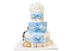 Pampertaart - luiertaart wolkje blauw