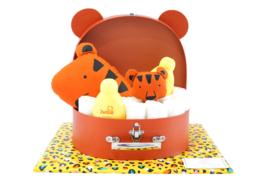 Koffertje groot diertje oranje