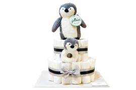 Pampertaart - luiertaart Pinguïn