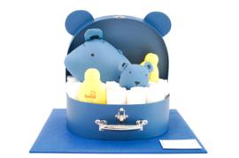 Koffertje groot diertje blauw