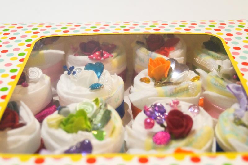 Pampertaart  - luiertaart cupcake xl