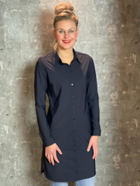 Travelblouse exclusive donkerblauw lang