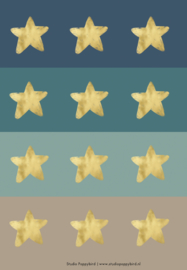 "Ronde stickers ""Star"""