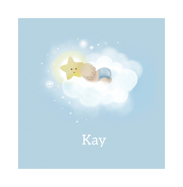 "Rouwkaart ""Kay"""