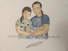 Profiel Portret gezin Wiyaka★