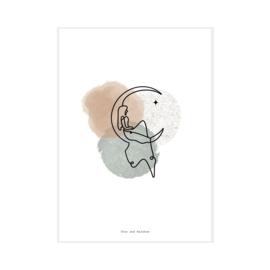 """Art Print """"Moonlady"""""""