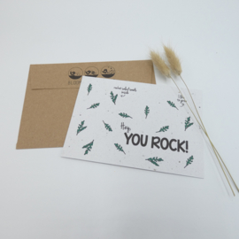 "Bloeikaart ""You Rock"""
