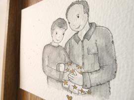 Half Postuur portret gezin Kiki★