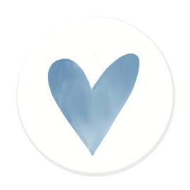 Sluitzegel hartje aquarel (blauw)