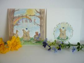 """Geboortekaartje illustraties """"Linde"""" (zusje van Joep★)"""