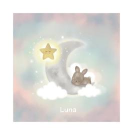 """Rouwkaart """"Luna"""""""