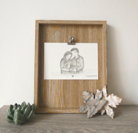 Half Postuur portret gezin Noah★