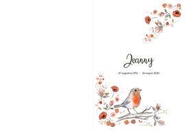 Rouwkaart Jeanny (mijn mama) - In liefdevolle herinnering-