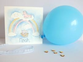 """Geboortekaartje """"Noah"""" (broertje van Emily★)"""