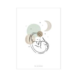 "Art Print ""Moonbaby"""