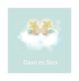 """Rouwkaart """"Daan en Sara"""""""