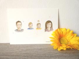 Profiel Portret gezin Lotte★