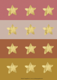 "Ronde stickers ""Stars"""