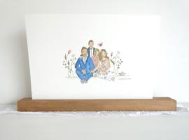 Huwelijksgeschenk (vlinder voor sterrenkindje)