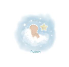 """Rouwkaart """"Ruben"""""""