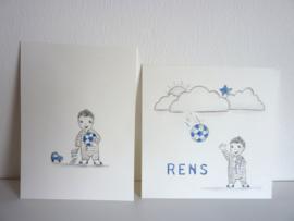 """Geboortekaartje illustraties """"Rens"""" (broertje van Lars★)"""