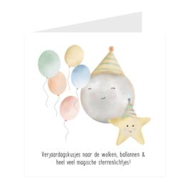 "Wenskaart ""Verjaardagskusjes"""