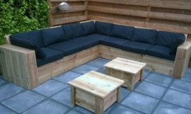 Hoek Loungebank 300 x 300 cm