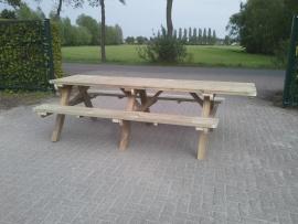 Picknickbank 250 cm met 40 cm voor ROLSTOEL